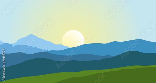 Beautiful mountain landscape in summer