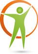 Mensch und Kreis Logo, Person, Vektor
