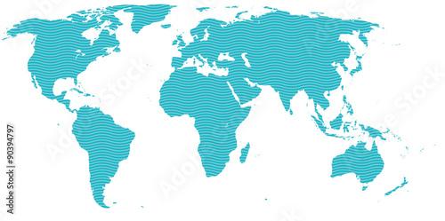 Türaufkleber Weltkarte Map - Carte du Monde
