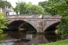 Historic Stone Bridge Over The River Eden In Appleby, UK