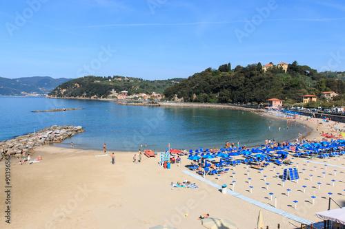Staande foto Liguria Spiaggia di Lerici - Liguria