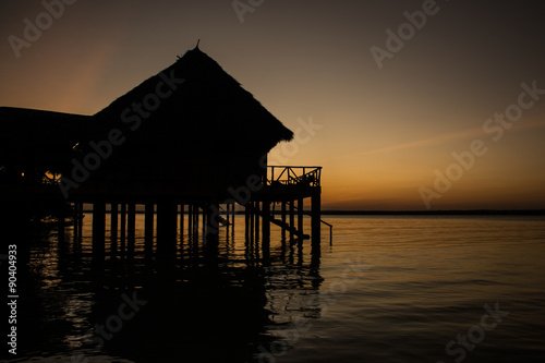 Kenia Africa, Mombasa, Chale Island, sunset, travel #90404933