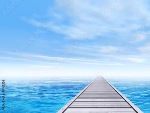 konceptualny-drewniany-pokladu-molo-na-wodzie-morskiej