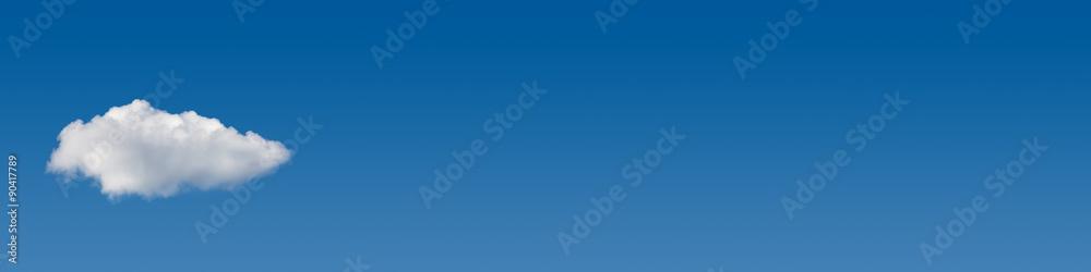 Fototapeta blue sky cloud banner