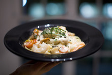 Creamy Shrimp Fettuccine Alfredo Pasta Dish