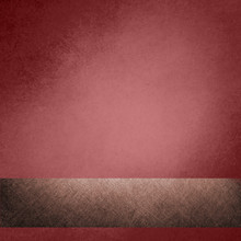 Faded Marsala Red Background With Brown Ribbon Banner, Vintage Color And Sponged Distressed Texture In Soft Blended Brush Strokes In Corner Design, With Light Center And Dark Border