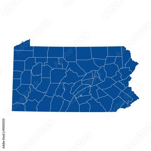 Fototapeta Map of Pennsylvania