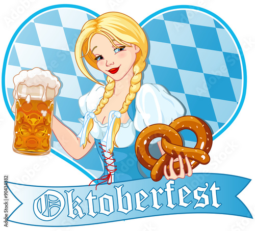 Printed kitchen splashbacks Fairytale World Oktoberfest girl