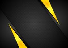 Dark Contrast Black Yellow Bac...