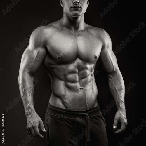 Strong and power bodybuilder Canvas Print