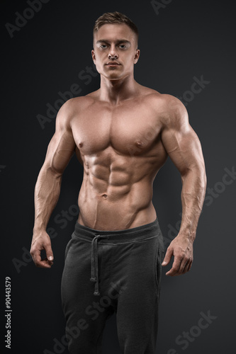 Strong and power bodybuilder Poster