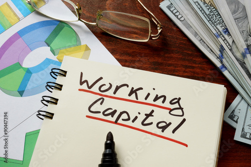 Working Capital  concept on a paper with charts. Fototapete