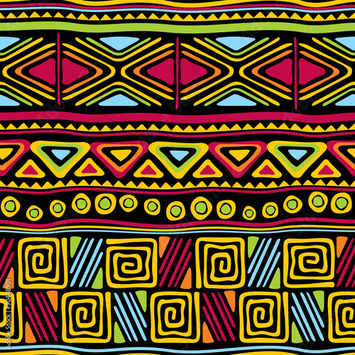 Cotton fabric african seamless