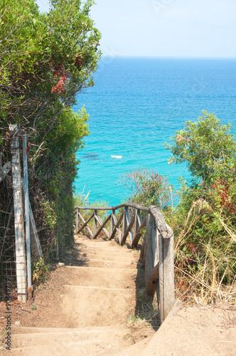 Fototapeta  Zambrone, a small town near the sea in Calabria