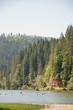 The famous Red Lake (Lacu Rosu) in Transylvania, Romania