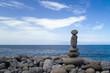 cairns on a beach