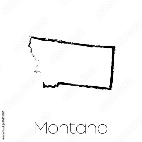 Scribbled shape of the State of Montana