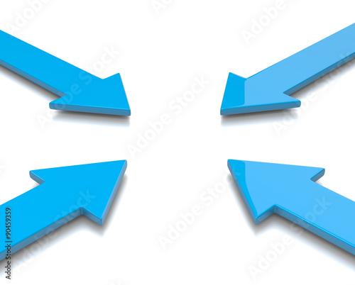 Valokuvatapetti Convergent Arrows