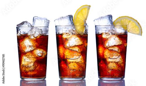 Fotografía  Glass with cola collection