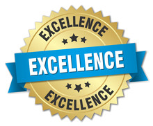 Excellence 3d Gold Badge With ...