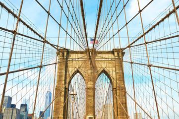 Brooklyn bridge pillar, New York City