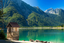 Lago Del Predil - Friuli Italy / (Predil Lake), Beautiful Alpine Lake In North Italy Near The Slovenian Border. Julian Alps, Friuli Venezia Giulia, Italy
