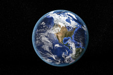 Detailed View Of Earth From Sp...