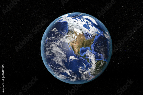 Obraz Detailed view of Earth from space, showing North America. Elements of this image furnished by NASA - fototapety do salonu