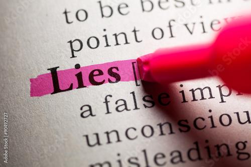 Fotografía  lies