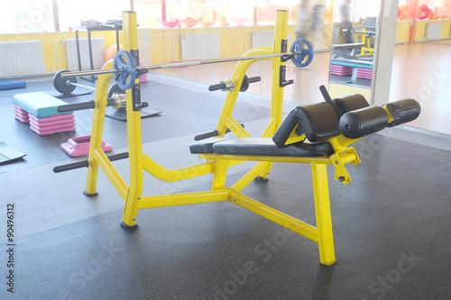 Gymnastique Gym apparatus in a gym hall