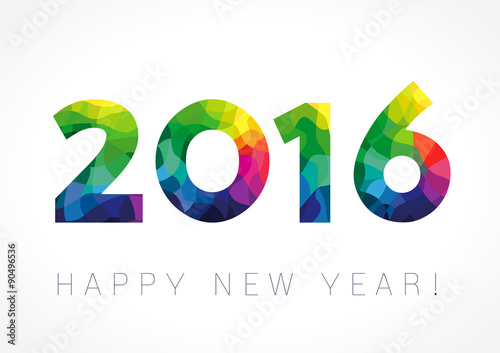 Poster  2016 new year color card