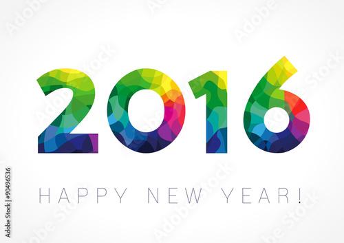 Fotografia  2016 new year color card