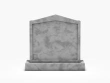 Gravestone Isolated On White Background