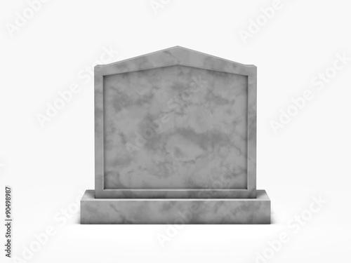 Valokuva gravestone isolated on white background