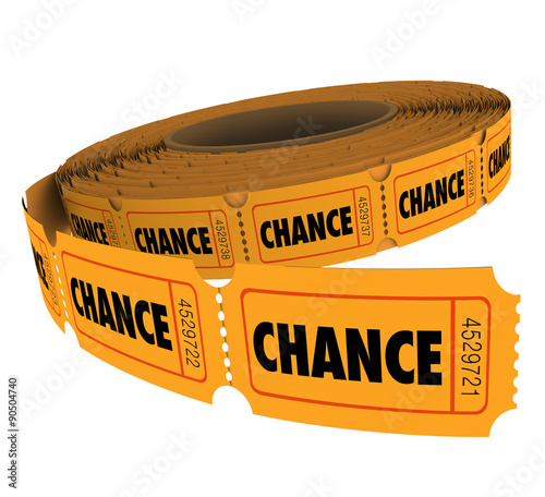 Fotografie, Obraz  Chance Word Tickets Raffle Lottery Drawing Odds Enter to Win