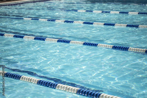 Swimming pool with lane dividers - Buy this stock photo and ...