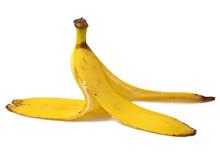 Bananas Skin Isolated On White Background