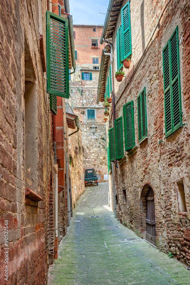 Fototapety, obrazy: Aleja w starym miasteczku Montepulciano, Włochy