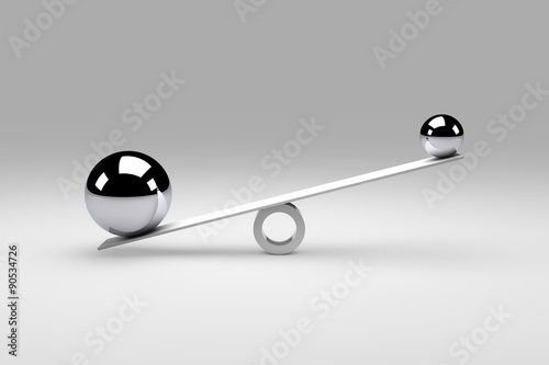 Fotografie, Obraz  Balance / Balls / Concept