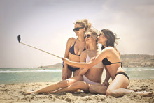 Three Girls Doing A Selfie At ...