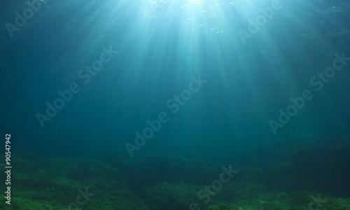 Canvas Prints Ocean Underwater backgound