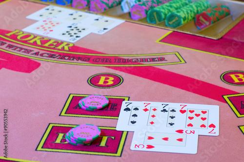 Casino Poker game плакат