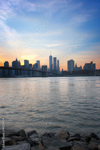 Stampe  Skyline of Manhattan in New York at Dusk