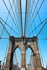 U.S.A., New York,Manhattan,the Brookllyn Bridge
