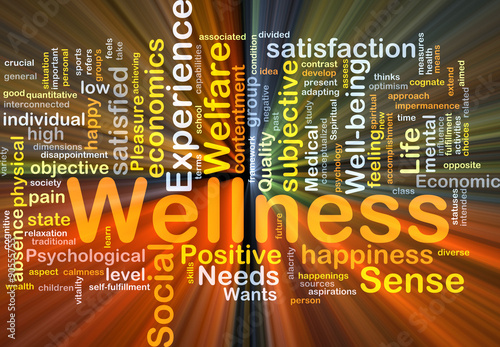 Wellness background concept glowing
