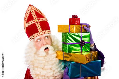 Photo  st.Nicholas showing  gifts