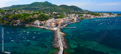 Fotomural Panoramic view of Ischia town from Aragonese Castle