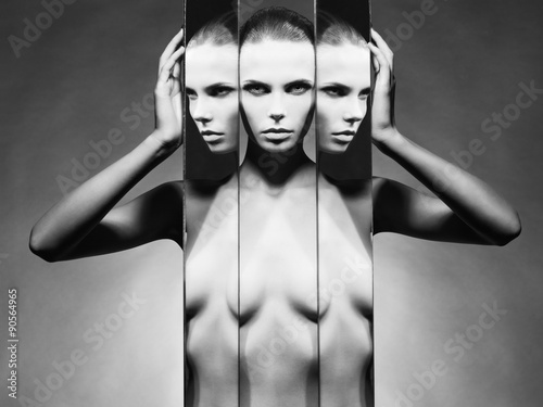 фотография  Woman and mirrors