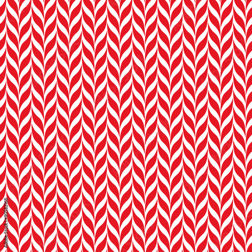 Candy Canes Vector Background Seamless Xmas Pattern With Red And