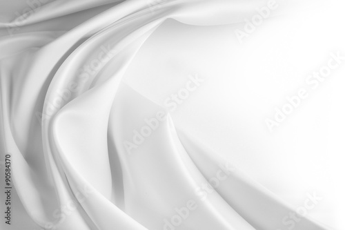 Wall Murals Fabric White silk